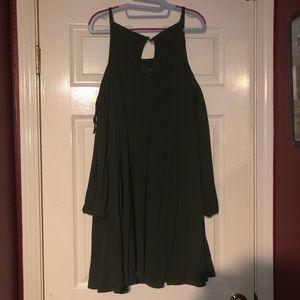 TORRID Olive green cold shoulder dress